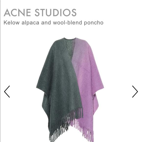 de13fa735 acne studios Accessories | Twotone Poncho Purplegreen | Poshmark
